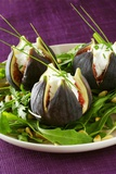 Stuffed Figs on Rocket Salad Photographic Print by Anthony Lanneretonne