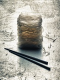 Rice Noodles and Chopsticks (Asia) Photographic Print by Hermann Mock