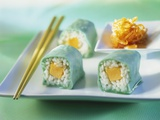 Sweet Maki with Marzipan and Melon Photographic Print by Ulrike Koeb