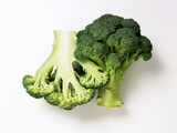 Two Half Broccoli Florets Photographic Print by Janne Peters