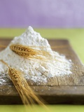 Flour and Wheat on Cutting Board Fotografisk trykk av Leigh Beisch