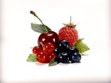 Cherry and Fresh Berries Photographic Print by Klaus Stemmler