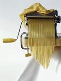 Home-Made Tagliatelle with Pasta Maker Fotografisk tryk af Kai Stiepel