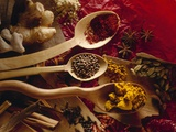 Assorted Spices in Wooden Spoons Photographic Print by Ulrike Koeb
