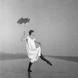 Umbrella Girl, Shirley Kingdom - 1956 Photographic Print by Ken Russell