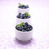 Three Ramekins Full of Blueberries Photographic Print by John Montana