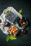 A Variety of Fresh Berries Photographic Print by Evangelia Kosmas