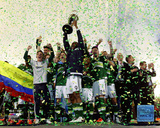 The Portland Timbers celebrate winning the 2015 MLS Cup Championship Game Photo