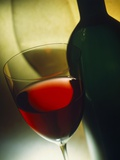 Red Wine in Bottle and Glass Photographic Print by Ulrike Koeb