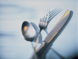 Spoon, Fork and Knife Photographic Print by Walter Pfisterer