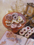 Punch Pretzels, Spitzbuben Cookies and Sandies with Dried Fruit Photographic Print by  Eising Studio - Food Photo and Video