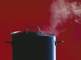 Steam Escaping from a Pan with a Lid Photographic Print by Hartmut Seehuber