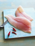 Zander Fillets with Dried Chillies Photographic Print by Matthias Hoffmann
