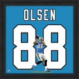 Greg Olsen, Carolina Panthers - Framed Photographic Representation Of The Player's Jersey Framed Memorabilia