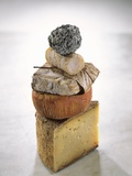 Still Life with Various Types of French Cheese Photographic Print by Nicolas Leser