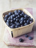 Blueberries in a Punnet Photographic Print by Philip Webb