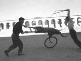 Bull on Wheels - Jaimie En Garde! Photographic Print by Ken Russell