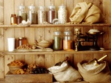 Pulses, Cereal Products and Dried Fruit on Shelves Photographic Print by Diana Miller