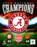 Alabama Crimson Tide 2015 National Champions Team Logo Photo