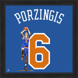 Kristaps Porzingis, New York Knicks - Framed Photographic Representation Of The Player's Jersey Framed Memorabilia