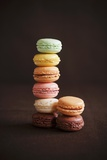 Multi-Colored Macaroons; Stacked Photographic Print by Colin Cooke