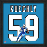 Luke Kuechly, Panthers - Framed Photographic Representation Of The Player's Jersey Framed Memorabilia