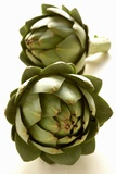 Two Green Artichokes Photographic Print by Alain Caste