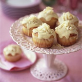 White Chocolate Muffins on Cake Stand Photographic Print by Michael Paul