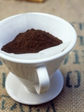 Ground Coffee in Filter Photographic Print by Sara Danielsson