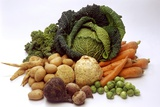 Various Types of Root Vegetables, Turnips and Cabbage Photographic Print by  Eising Studio - Food Photo and Video
