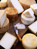 Various Types of Cheese from the Basque Region Photographic Print by Joerg Lehmann