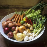 A Bowl of Vegetables, Citrus Fruits and Spices Photographic Print by Tara Fisher