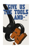 World Ware II Poster Featuring a Pair of Pincers Crushing a Swastika Print by  Stocktrek Images
