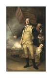 Painting of General George Washington at the Battle of Princeton Art by  Stocktrek Images