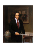 Presidential Portrait of President George H.W. Bush Art by  Stocktrek Images