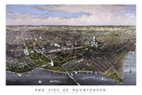 Vintage Print of Washington D.C Poster by  Stocktrek Images