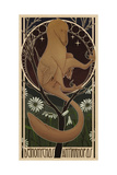 Deinonychus Antirrhopus Reconstructed in Art Nouveau Style Posters by  Stocktrek Images