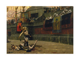 Vintage Print of a Roman Gladiator with His Defeated Opponent Prints by  Stocktrek Images