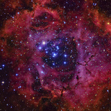 The Rosette Nebula Photographic Print by  Stocktrek Images