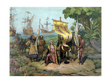 Christopher Columbus Taking Possession of the New Country Prints by  Stocktrek Images