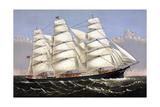 Vintage Print of the Clipper Ship Three Brothers Prints by  Stocktrek Images