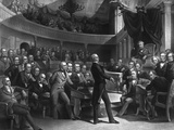 Senator Henry Clay Speaking About the Compromise of 1850 in the Senate Prints by  Stocktrek Images