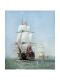 Vintage Print of Hms Victory of the Royal Navy Print by  Stocktrek Images