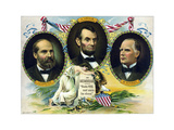 Vintage Print of Presidents James Garfield, Abraham Lincoln, and William Mckinley Posters by  Stocktrek Images