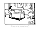 """It has a cream base because we hate you."" - New Yorker Cartoon Premium Giclee Print by Bruce Eric Kaplan"