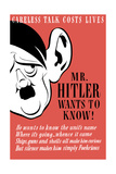 Stocktrek Images - Vintage World Ware II Poster Featuring a Caricature of Adolf Hitler with a Giant Ear Plakát