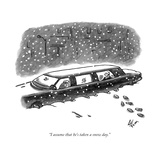 """I assume that he's taken a snow day."" - New Yorker Cartoon Premium Giclee Print by Frank Cotham"