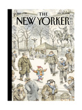 The New Yorker Cover - January 25, 2016 Regular Giclee Print by John Cuneo
