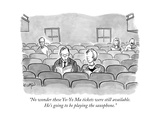 """No wonder these Yo-Yo Ma tickets were still available. He's going to be p..."" - New Yorker Cartoon Premium Giclee Print by Robert Leighton"