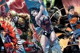 Justice League- Heroic Panels Plakat